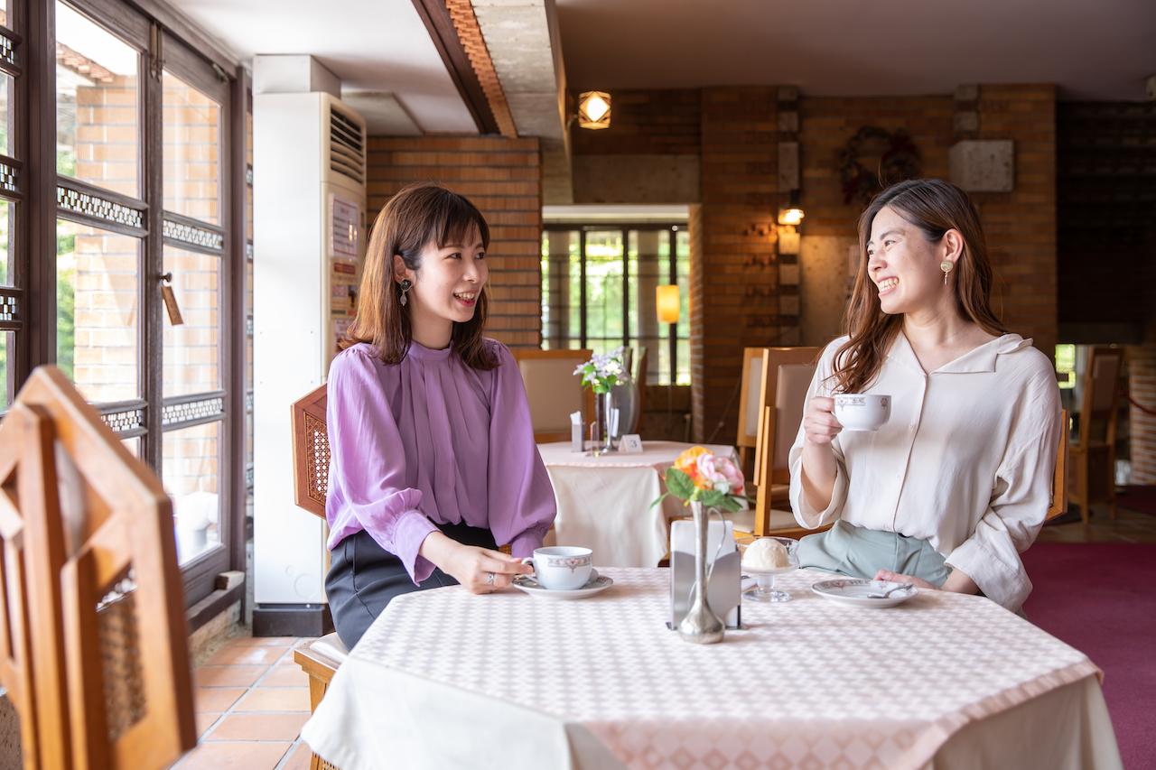 帝国ホテル内で優雅な喫茶タイム